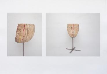 Holzskulptur, 27cm x 61cm